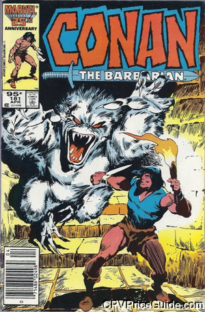 Conan the Barbarian #181 95¢ Canadian Price Variant Comic Book Picture