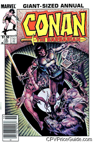 Conan the Barbarian Annual #10 $1.50 Canadian Price Variant Comic Book Picture
