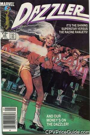 Dazzler #35 75¢ Canadian Price Variant Comic Book Picture