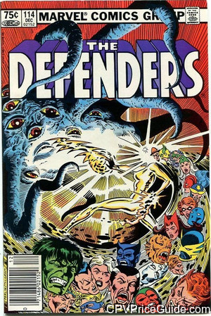 Defenders #114 75¢ Canadian Price Variant Comic Book Picture