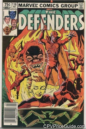 Defenders #116 75¢ Canadian Price Variant Comic Book Picture