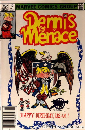 Dennis the Menace #12 75¢ Canadian Price Variant Comic Book Picture