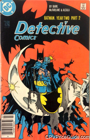 Detective Comics #576 $1.00 Canadian Price Variant Comic Book Picture