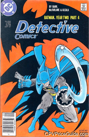 Detective Comics #578 $1.00 Canadian Price Variant Comic Book Picture