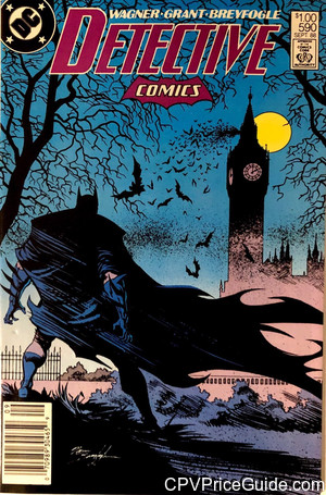 Detective Comics #590 $1.00 Canadian Price Variant Comic Book Picture