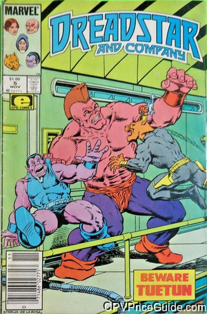 Dreadstar and Company #5 $1.00 Canadian Price Variant Comic Book Picture