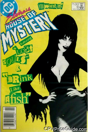elviras house of mystery 9 cpv canadian price variant image