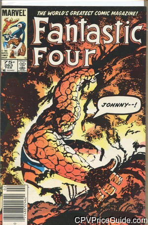 Fantastic Four #263 75¢ Canadian Price Variant Comic Book Picture