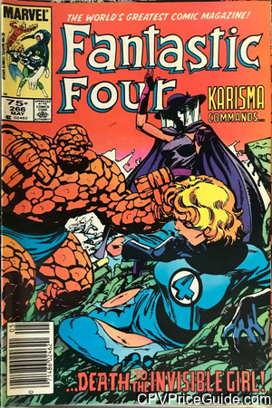 fantastic four 266 cpv canadian price variant image