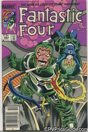 Fantastic Four #283 75¢ Canadian Price Variant Comic Book Picture