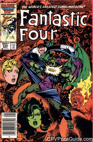 Fantastic Four #290 95¢ Canadian Price Variant Comic Book Picture