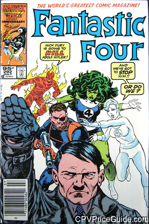 Fantastic Four #292 95¢ Canadian Price Variant Comic Book Picture
