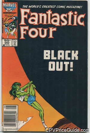 Fantastic Four #293 95¢ Canadian Price Variant Comic Book Picture