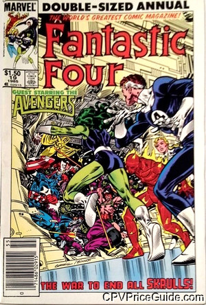 Fantastic Four Annual #19 $1.50 Canadian Price Variant Comic Book Picture