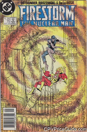 Firestorm the Nuclear Man #75 $1.35 Canadian Price Variant Comic Book Picture