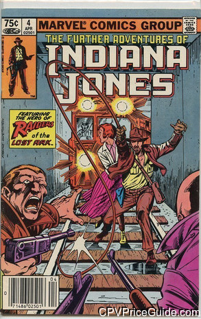 Further Adventures of Indiana Jones #4 75¢ Canadian Price Variant Comic Book Picture