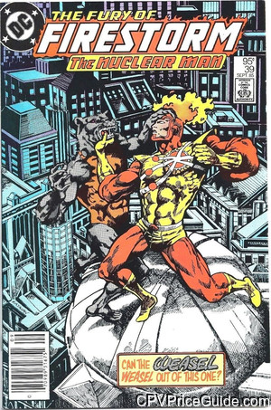Fury of Firestorm #39 95¢ Canadian Price Variant Comic Book Picture