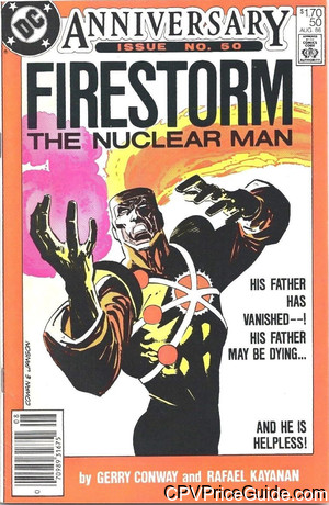 Fury of Firestorm #50 $1.70 Canadian Price Variant Comic Book Picture