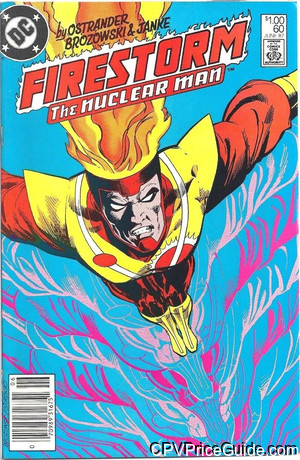 Fury of Firestorm #60 $1.00 Canadian Price Variant Comic Book Picture