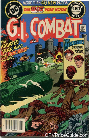 G.I. Combat #271 $1.60 Canadian Price Variant Comic Book Picture