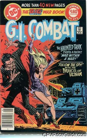 G.I. Combat #273 $1.60 Canadian Price Variant Comic Book Picture