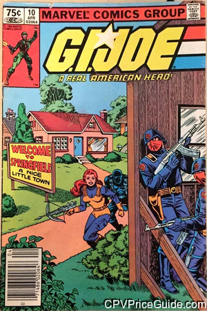 G.I. Joe, a Real American Hero #10 75¢ Canadian Price Variant Comic Book Picture