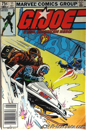 G.I. Joe, a Real American Hero #11 75¢ Canadian Price Variant Comic Book Picture