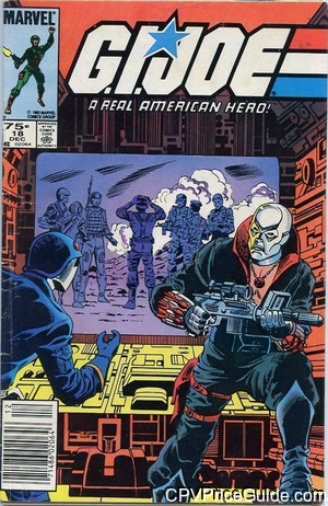 G.I. Joe, a Real American Hero #18 75¢ Canadian Price Variant Comic Book Picture
