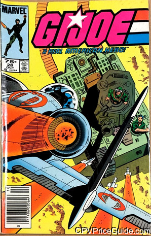 G.I. Joe, a Real American Hero #28 75¢ Canadian Price Variant Comic Book Picture