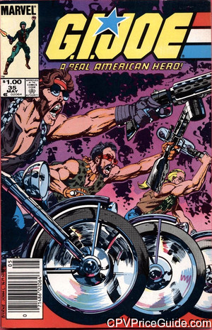 G.I. Joe, a Real American Hero #35 $1.00 Canadian Price Variant Comic Book Picture