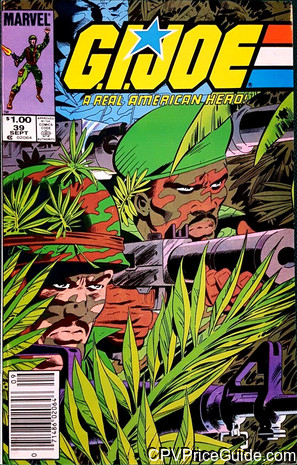 G.I. Joe, a Real American Hero #39 $1.00 Canadian Price Variant Comic Book Picture