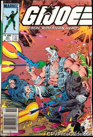 G.I. Joe, a Real American Hero #41 $1.00 Canadian Price Variant Comic Book Picture