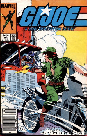 G.I. Joe, a Real American Hero #44 95¢ Canadian Price Variant Comic Book Picture