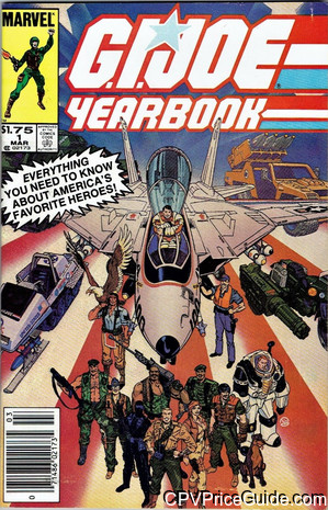 G.I. Joe, a Real American Hero Yearbook #1 $1.75 Canadian Price Variant Comic Book Picture