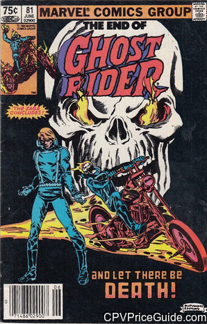 Ghost Rider #81 75¢ Canadian Price Variant Comic Book Picture