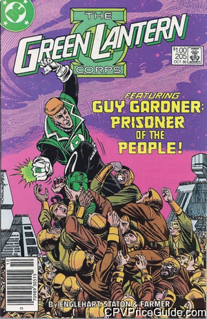Green Lantern #205 $1.00 Canadian Price Variant Comic Book Picture