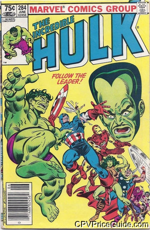Incredible Hulk #284 75¢ Canadian Price Variant Comic Book Picture