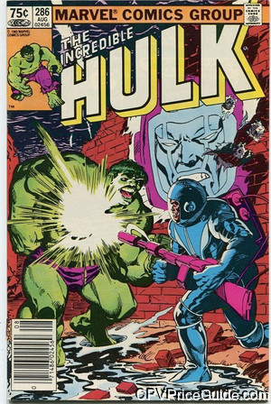 Incredible Hulk #286 75¢ Canadian Price Variant Comic Book Picture