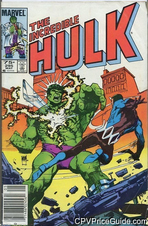 Incredible Hulk #295 75¢ Canadian Price Variant Comic Book Picture