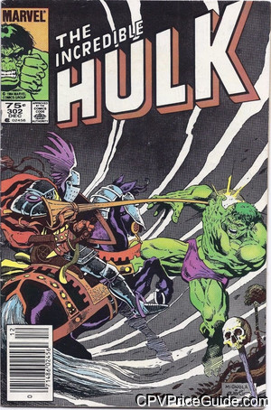 Incredible Hulk #302 75¢ Canadian Price Variant Comic Book Picture