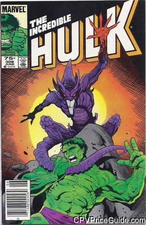 Incredible Hulk #308 75¢ Canadian Price Variant Comic Book Picture