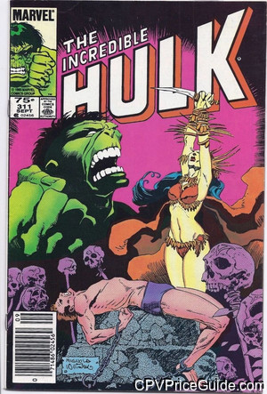 Incredible Hulk #311 75¢ Canadian Price Variant Comic Book Picture
