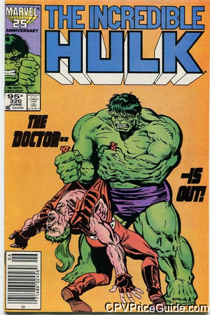 Incredible Hulk #320 95¢ Canadian Price Variant Comic Book Picture