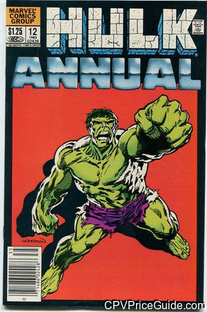 Incredible Hulk Annual #12 $1.25 Canadian Price Variant Comic Book Picture