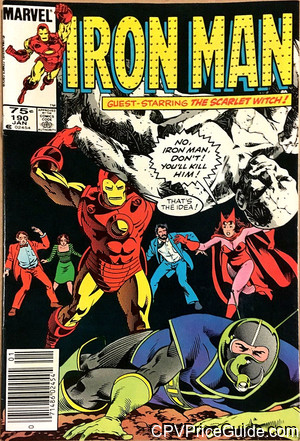 Iron Man #190 75¢ Canadian Price Variant Comic Book Picture