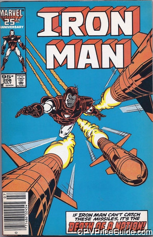 Iron Man #208 95¢ Canadian Price Variant Comic Book Picture