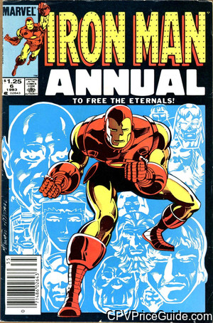 Iron Man Annual #6 $1.25 Canadian Price Variant Comic Book Picture