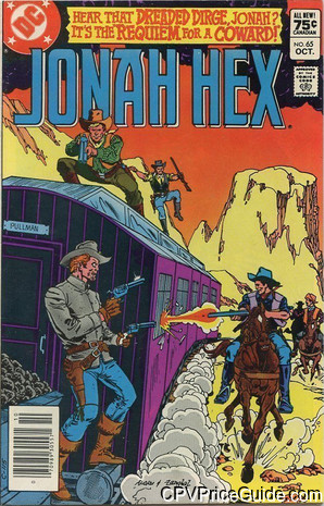Jonah Hex #65 75¢ Canadian Price Variant Comic Book Picture