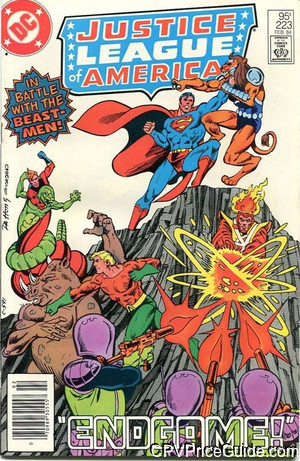 Justice League of America #223 95¢ Canadian Price Variant Comic Book Picture