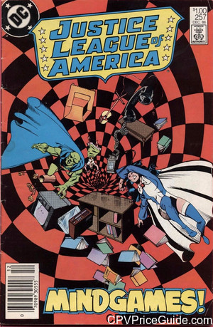 Justice League of America #257 $1.00 Canadian Price Variant Comic Book Picture